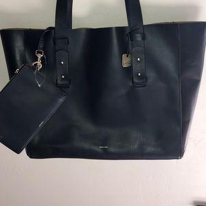 Skagen black tote with wallet